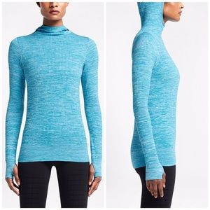 Nike Pro Hyperwarm Limitless Hoodie Blue Lacquer